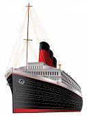 stock photo of bon voyage  - Retro cruise liner illustration on white background - JPG