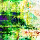 art abstract acrylic background in white, yellow, green and blue colors
