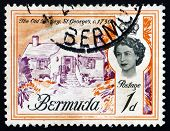 Postage Stamp Bermuda 1962 The Old Rectory