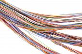 Colored telecommunication cable