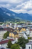 General View Of Innsbruck In Western Austria.