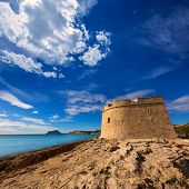 Moraira Castle in teulada beach at Mediterranean Alicante of Spain