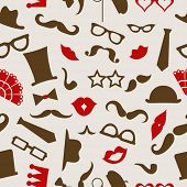 Hipster seamless pattern, vector illustration