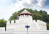 foto of kan  - Ancient Thai fortress named Pom Maha Kan in BangkokThailand - JPG