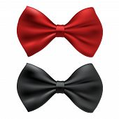 red and black bow ties