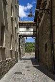 Detail Of The Cobbled Streets Of Pamplona