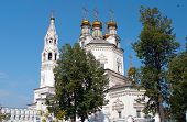 stock photo of trinity  - Holy Trinity Cathedral and White Kremlin. Verkhoturye. Sverdlovsk region, Russia.
