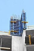 picture of formwork  - Concrete formwork and floor beams on construction site - JPG