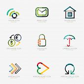 pic of social housing  - Set of 9 various company logos - JPG