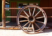 pic of stagecoach  - Wagon Wheel from the old Wild West - JPG