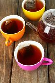 picture of tea bag  - Cups of tea - JPG