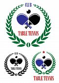 pic of ping pong  - Table tennis emblems and symbols with ping pong ball - JPG