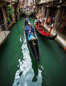 stock photo of gondola  - VENICE ITALY  - JPG