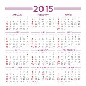 picture of thursday  - 2015 elegant squared calendar - JPG