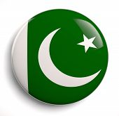 image of pakistani flag  - Pakistani flag icon on white - JPG