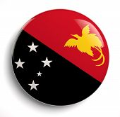 stock photo of papua new guinea  - Papua New Guinea flag icon - JPG