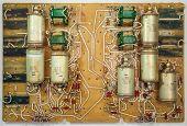 stock photo of circuits  - Electronic circuit board - JPG