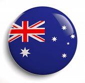image of lapel  - Australia flag icon isolated on white - JPG