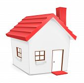 foto of cute  - Cute vector illustration of home for residential - JPG