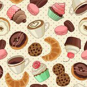 picture of donut  - Yummy colorful chocolate cupcakes - JPG