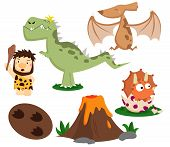 pic of prehistoric animal  - a vector of Prehistoric Vector item and animal - JPG