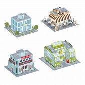 image of compose  - Set of Isometric Buildings - JPG