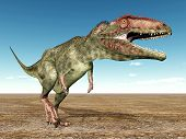 stock photo of dinosaur  - Computer generated 3D illustration with the Dinosaur Giganotosaurus - JPG