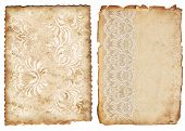foto of decoupage  - Vintage backgrounds with lace on the old paper - JPG