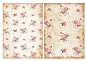 image of decoupage  - Vintage backgrounds with roses  - JPG