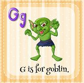 picture of goblin  - Illustration of a letter G is for goblin - JPG