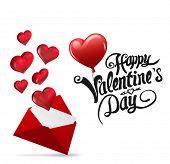 image of cursive  - Cute valentines message against love letter - JPG