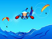 picture of sky diving  - Sun - JPG