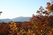 pic of gatlinburg  - A scenic view of the Smoky Mountains in fall from Gatlinburg Tennessee - JPG