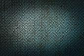 picture of rhombus  - Blue metal rhombus shaped texture closeup background - JPG