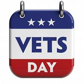 picture of veterans  - Veterans Day isolated calendar icon - JPG