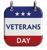 foto of veterans  - Veterans Day isolated calendar icon - JPG