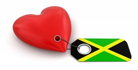 foto of jamaican flag  - Heart with Jamaican flag - JPG