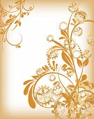 image of steampunk  - Abstract mechanical background with floral elements - JPG