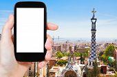 picture of gaudi barcelona  - travel concept  - JPG