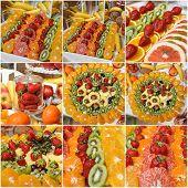 picture of fruit  - Carved fruits arrangement - JPG