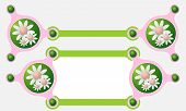 foto of text-box  - Two vector abstract text boxes for your text and flowers - JPG