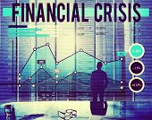 picture of crisis  - Financial Crisis Economics Banking Accounting Concept - JPG