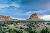 pic of butts  - Fajada Butte in Chaco Culture National Historical Park New Mexico USA - JPG