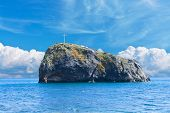stock photo of crimea  - a rock in sea. Fiolent. Crimea. Sevastopol ** Note: Soft Focus at 100%, best at smaller sizes - JPG
