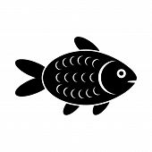 stock photo of fish icon  - The fish icon - JPG