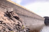 stock photo of canary  - Artificial Lake Water Dam in the Canary Islands Gran Canaria - JPG