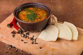 foto of indian food  - Oriental soup - JPG