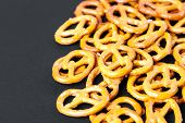 foto of pretzels  - food pretzel bread salty salt tasty brown snack - JPG