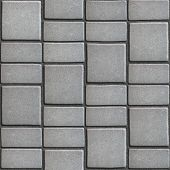 picture of paving  - Gray Paving Slabs that Mimic Natural Stone - JPG