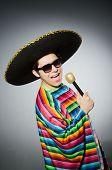 picture of karaoke  - Funny mexican singing in karaoke - JPG